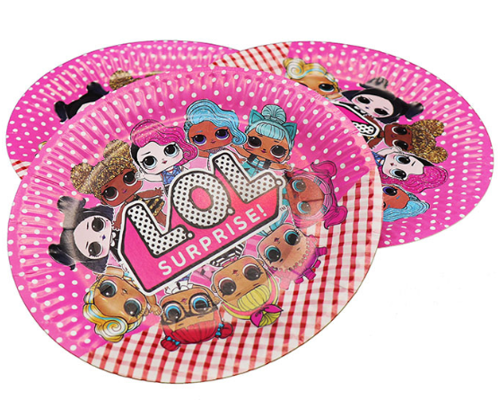 doll lol for kids birthday theme party decoration supplies set ( FOR 10 PERSON ) 2