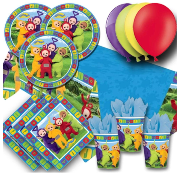 Signature Balloons Teletubbies Party Pack For 8 - Plates, Cups, Napkins, Balloons And Tablecover 1