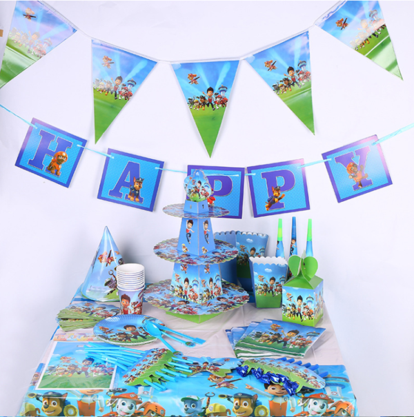 Powpatrol kids birthday theme party supplies set party decorations ( FOR 10 PERSON ) 1