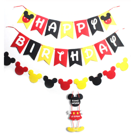 Mickey party red Mickey party tableware set children birthday party supplies decoration ( FOR 12 PERSON ) 3