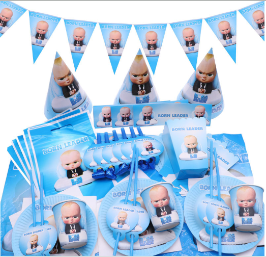 Born leader kids birthday theme party supplies set party decorations (FOR 10 PERSON) 1