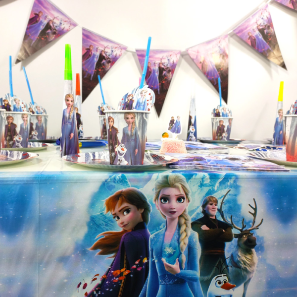 frozen2 kids birthday theme party supplies set party decorations( FOR 10 PERSON) 1