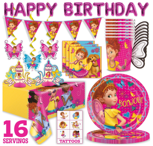 This Disney Fancy Nancy party supplies set for 16 person 1