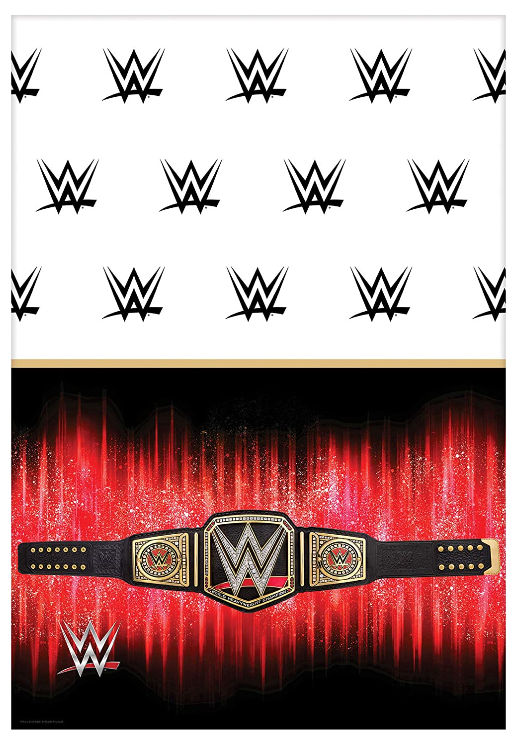 WWE Birthday Party Supplies and Decoration Pack With John Cena WWE Plates, Napkins, Tablecover, Cups, Add An Age Banner, Table Decoration, Balloons, and Pin 4