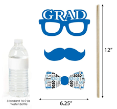 Big Dot of Happiness Blue Grad - Best is Yet to Come - Royal Blue 2020 Graduation Party Photo Booth Props Kit - 20 Count 4